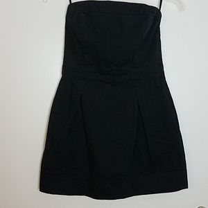 French Connection Black Strapless Dress Sz 10